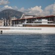 Stock Photo: Steve Jobs' luxury yacht in port of Genoa, Italy