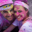 People at Color Run event in Milan, Italy — Foto de stock #31103745