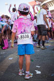 People at The Color Run event in Milan, Italy — Foto Stock