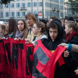 Secondary school students protest in Milan, Italy — Stock Photo