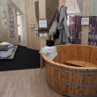 Feng shui furniture at Yoga Festival 2013 in Milan, Italy — Stock Photo