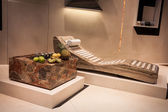 Marble chaise longue at Host 2013 in Milan, Italy — Stock Photo