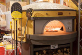 Pizza oven at Host 2013 in Milan, Italy — Stock Photo