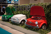 Fiat 500 refrigerators at Host 2013 in Milan, Italy — Stock Photo