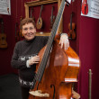 Stock Photo: Double bass at Milano Guitars & Beyond 2013 in Milan, Italy