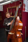 Double bass at Milano Guitars & Beyond 2013 in Milan, Italy — Stock Photo