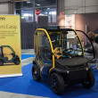 图库照片: Electric car at Smau exhibition in Milan, Italy