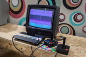 Atari retro console at Games Week 2013 in Milan, Italy — Stock Photo