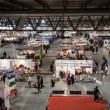 Stock Photo: Top view of people and booths at Weekend Donn2013 in Milan, Italy