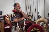 Roman legionary at Militalia 2013 in Milan, Italy — Stock Photo