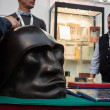 Stock Photo: Sculpture of Mussolini's head at Militali2013 in Milan, Italy