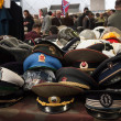 Russian military hats at Militalia 2013 in Milan, Italy — Stock Photo