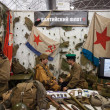 Red Army soldiers at Militalia 2013 in Milan, Italy — Stock Photo