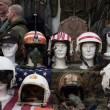 Air force helmets at Militalia 2013 in Milan, Italy — Stock Photo