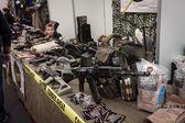 Military stuff at Militalia 2013 in Milan, Italy — Stock Photo