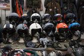 Letectvo přilby na militalia 2013 v Miláně, Itálie — Stock fotografie