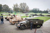 People and tanks at Militalia 2013 in Milan, Italy — Stock Photo
