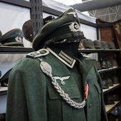 Nazi uniform at Militalia 2013 in Milan, Italy — Stock Photo