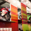 Competition motorbikes at EICMA 2013 in Milan, Italy — Stock Photo #34997917