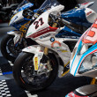 BMW competition motorbikes at EICMA 2013 in Milan, Italy — Stock Photo #35025319