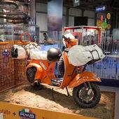 Enduro Vespa scooter at EICMA 2013 in Milan, Italy — Stock Photo