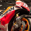 Honda competition motorbike at EICMA 2013 in Milan, Italy — Stock Photo #35030657