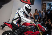 People at EICMA 2013 in Milan, Italy — Stock Photo