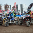 Quad bike race at EICMA 2013 in Milan, Italy — Stock Photo