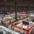 Top view of booths and people at Chibimart 2013 in Milan, Italy — 图库照片