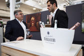 Italian winemaker at Golosaria 2013 in Milan, Italy — Stock Photo