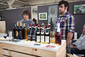 Italian winemakers at Golosaria 2013 in Milan, Italy — Stock Photo