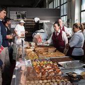 Bakery corner at Golosaria 2013 in Milan, Italy — Stock Photo
