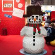Lego snowman at G! come giocare in Milan, Italy — Stock Photo