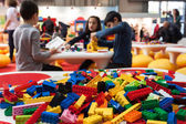 Detail of Lego building bricks at G! come giocare in Milan, Italy — Stock Photo