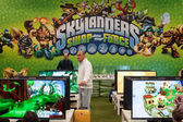 Skylanders stand at G! come giocare in Milan, Italy — Stock Photo
