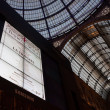 Stock Photo: Big screen ready to broadcast Verdi's LTraviatpremiere in Milan, Italy