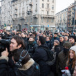 Stock Photo: Demonstrators protesting against government in Milan, Italy