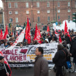 People during antifascist march in Milan, Italy — Stock Photo #37326041