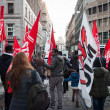 People during antifascist march in Milan, Italy — Stock Photo #37326051