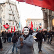 People during antifascist march in Milan, Italy — Stock Photo #37326059