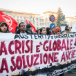 People during antifascist march in Milan, Italy — Stock Photo #37326067