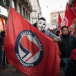 People during antifascist march in Milan, Italy — Stock Photo #37326077