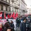 People during antifascist march in Milan, Italy — Stock Photo #37326085
