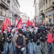People during antifascist march in Milan, Italy — Stock Photo #37326103