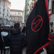 People during antifascist march in Milan, Italy — Stock Photo #37326115
