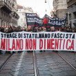 People during antifascist march in Milan, Italy — Stock Photo #37326117