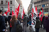 People during an antifascist march in Milan, Italy — Stock Photo