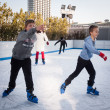 People skating on ice rink in Milan, Italy — Stock Photo #37974103