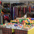 Pet toys, leashes and collars at the international dogs exhibition of Milan, Italy — Stock Photo #38773851