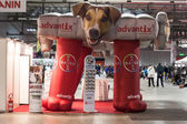 Inflatable Bayer stand at the international dogs exhibition of Milan, Italy — Foto Stock